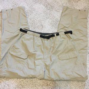 Royal Robbins Tan Zip Off Nylon Pants/Shorts Sz XL
